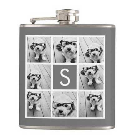 personalized photo flask