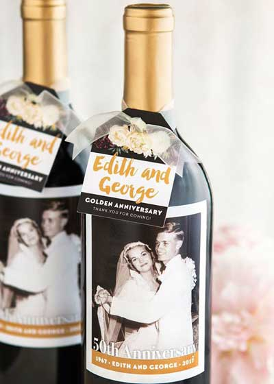 personalized photo wine labels