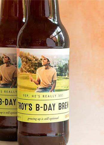 milestone birthday personalized beer labels