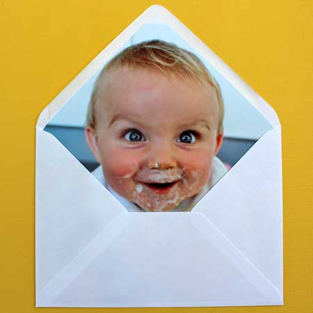 custom photo envelope liners