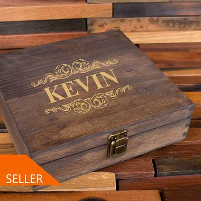 time capsule personalized wooden keepsake box