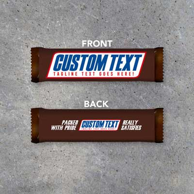 Snickers candy bar invitation