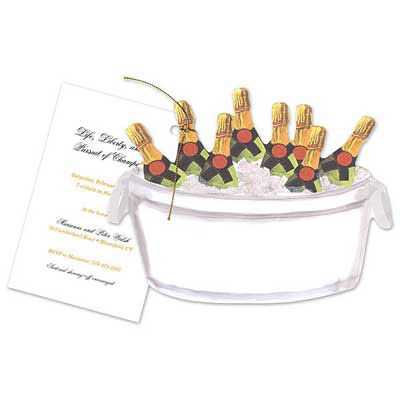 champagne bottles invitations
