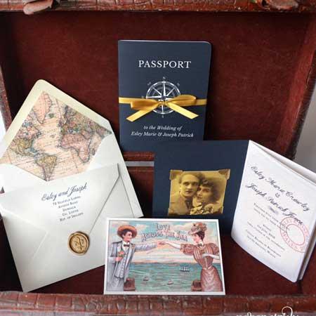 passport style invitations