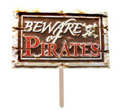 pirates yard sign