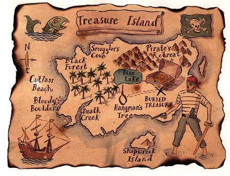 Pirate party ideas by a professional party planner pirate treasure map stopboris Choice Image