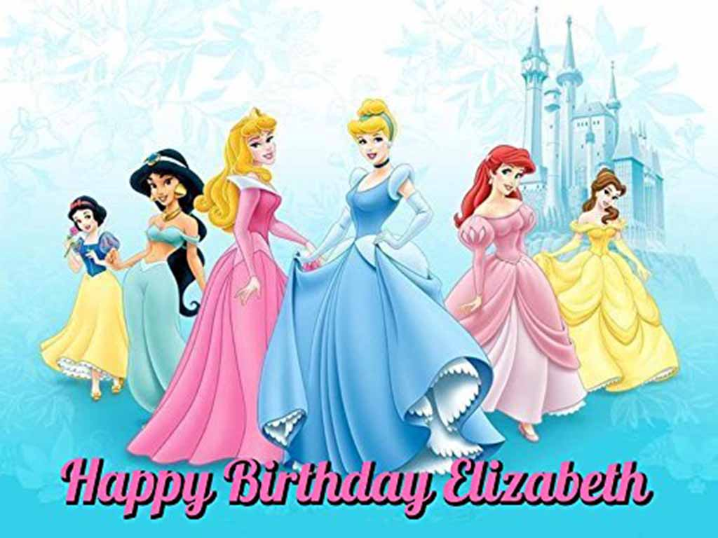 princess edible image cake topper