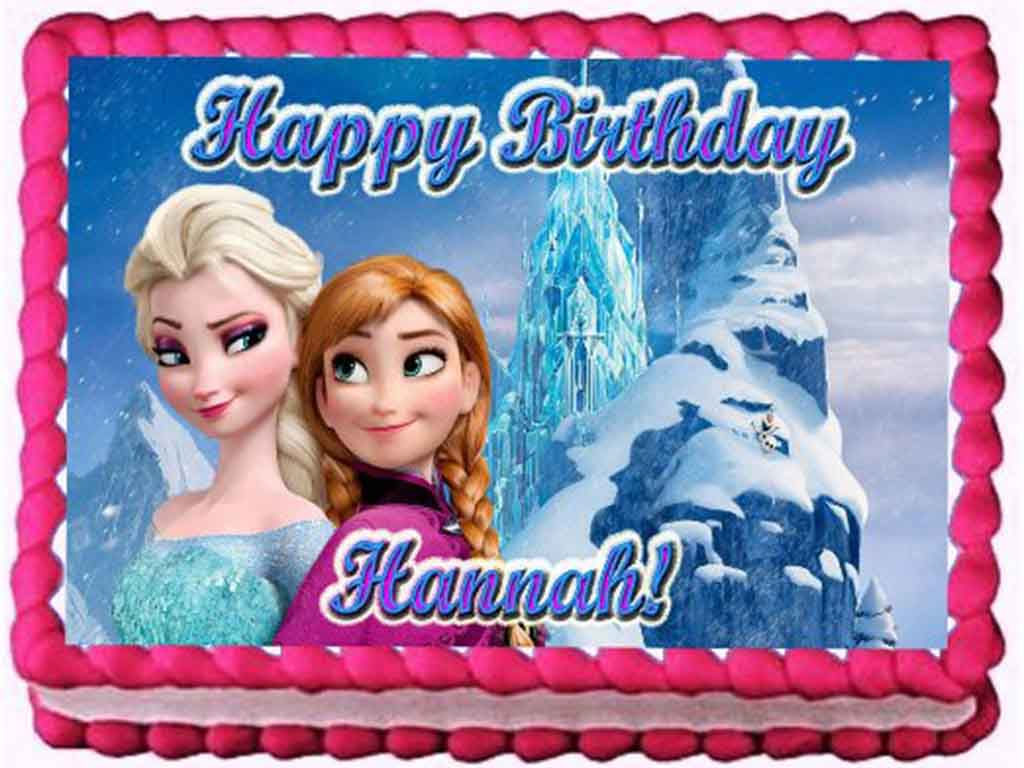 disney frozen edible image cake topper