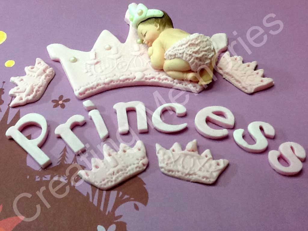 princess fondant cake topper
