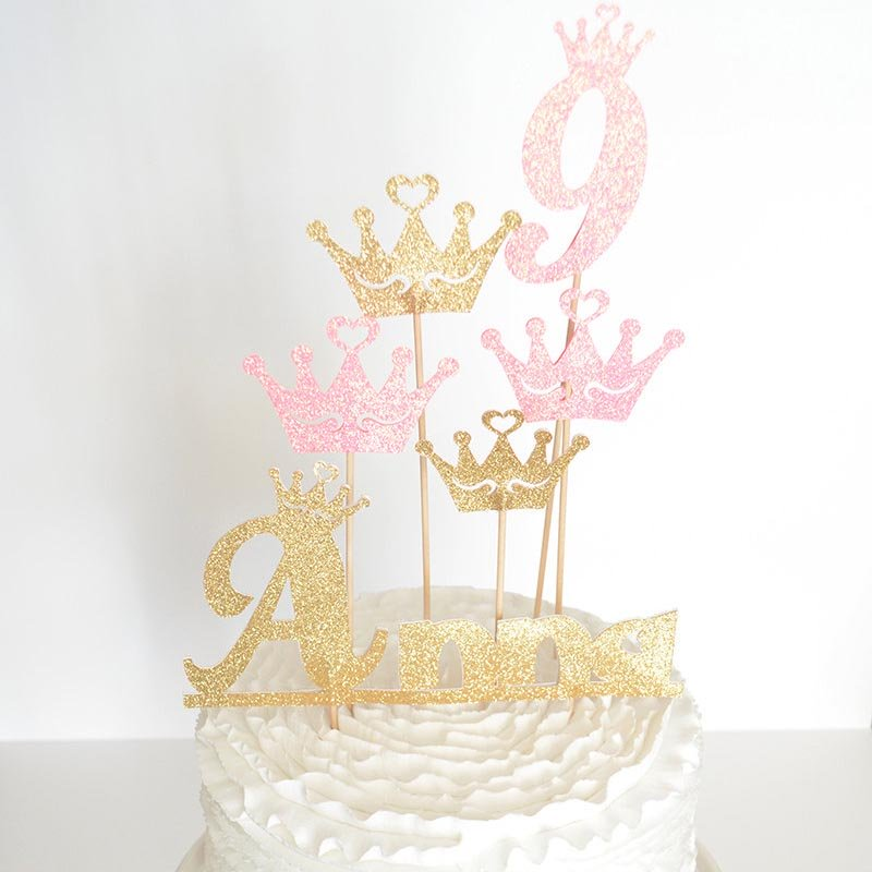 personalized princess cake topper