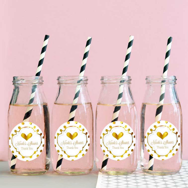 princess baby shower drinks bottles