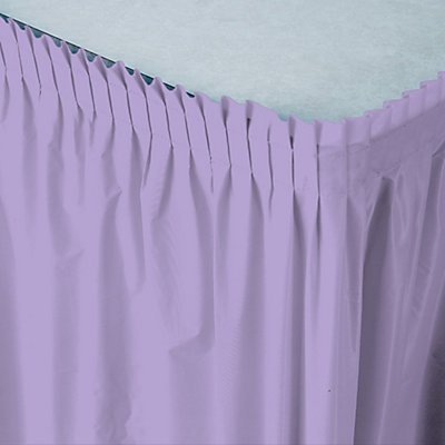 lavendar table skirt