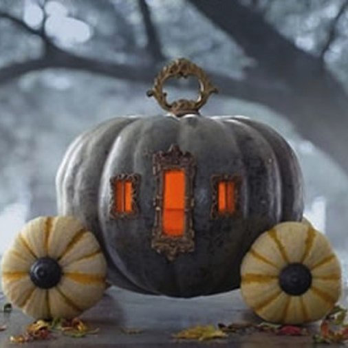 pumpkin carriage centerpiece