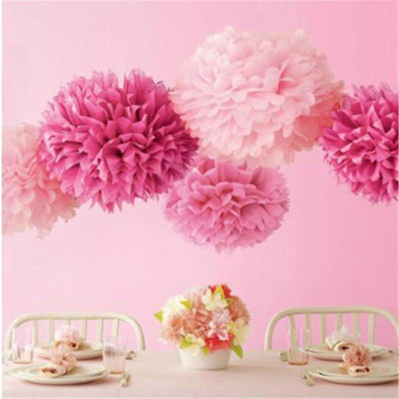 pink tissue poms
