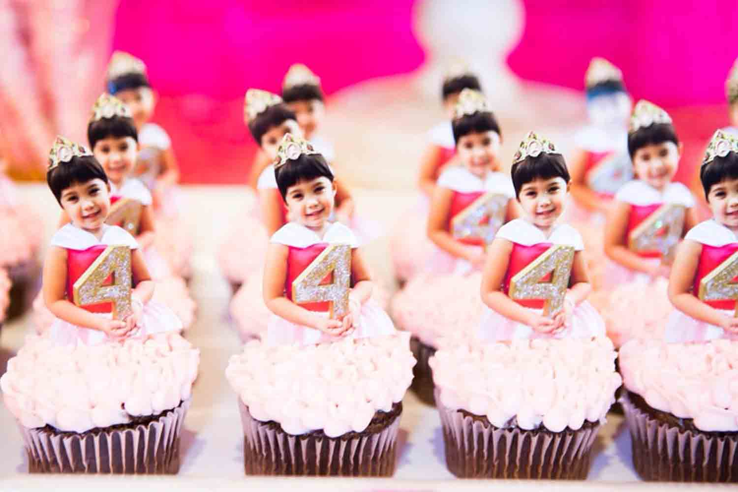 personalized princess photo cupcake toppers