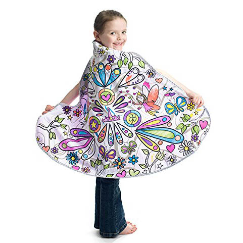 color in fairy princess cape