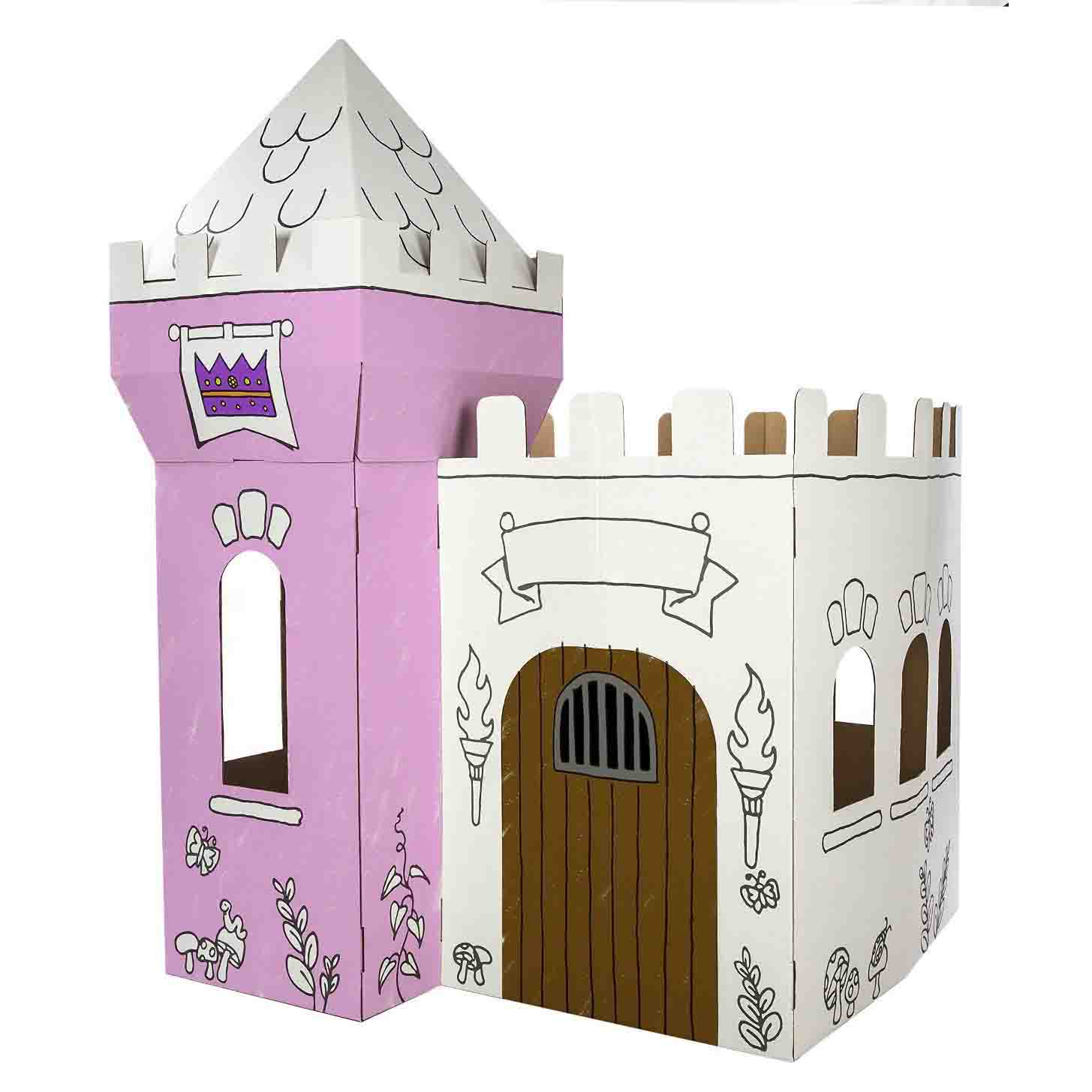 color your own princess castle
