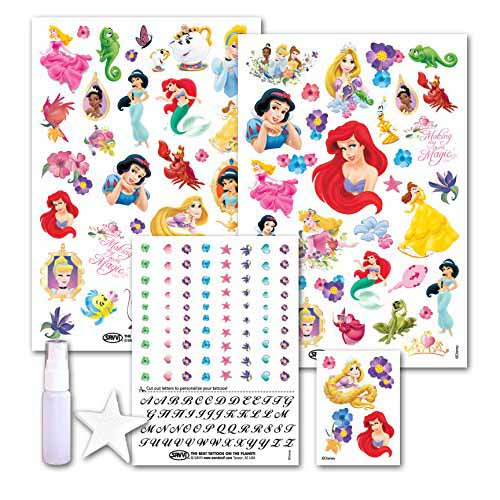 princess kids temporary tattoos