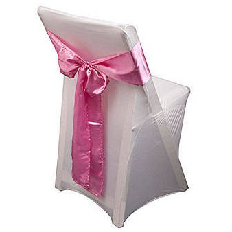chair covers pink bow
