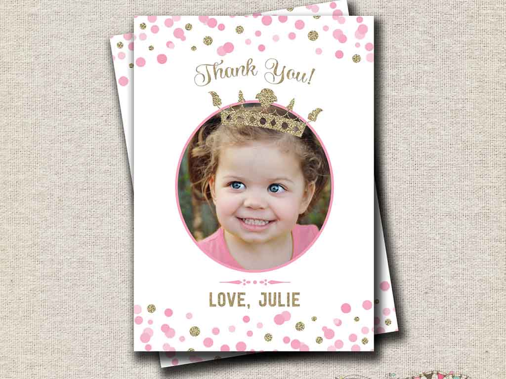 princess thank you notes