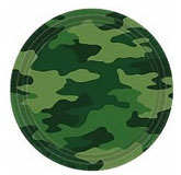 camouflage party plates