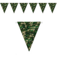 camouflage pennant banner