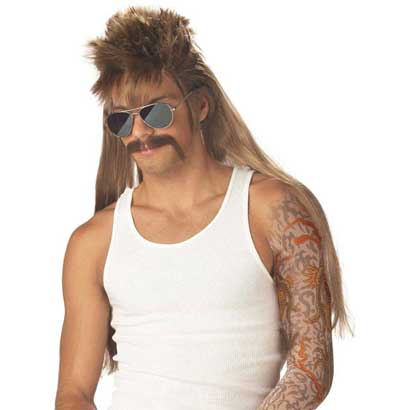 redneck party costumes mullet wigs