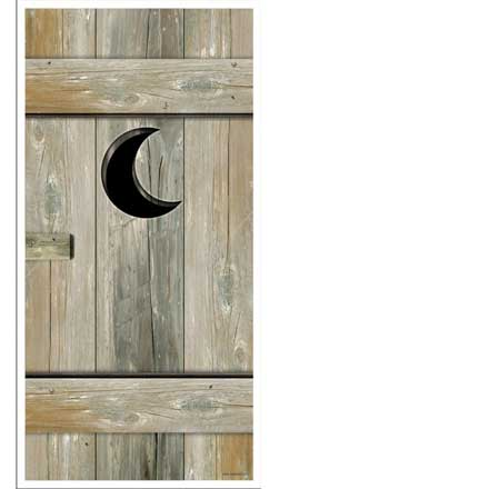 redneck party decorations outhouse door cover