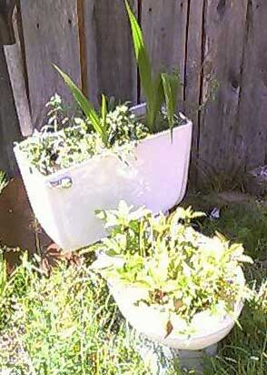redneck party decorations toilet planter