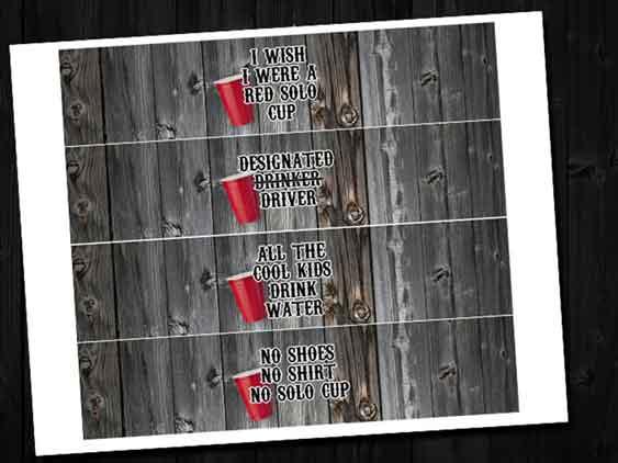 redneck water labels