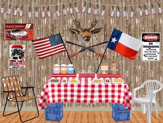 redneck dessert / buffet table