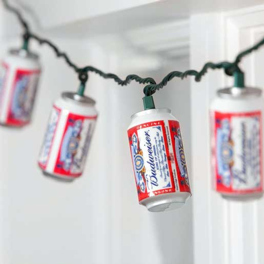redneck party decorations budweiser can string lights