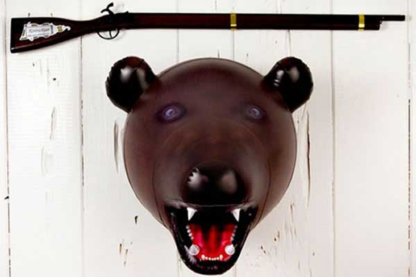 redneck party decorations inflatable bear head