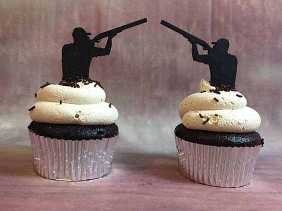 redneck cupcake toppers shooting