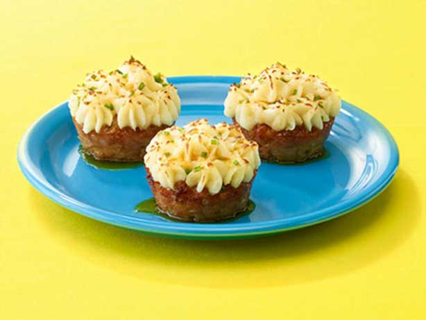 redneck party food savory spam cupcakes with mash potato frosting