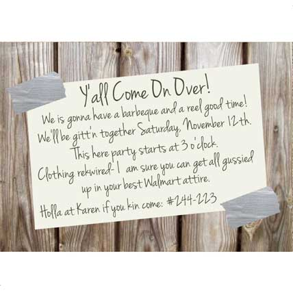 redneck party invitations