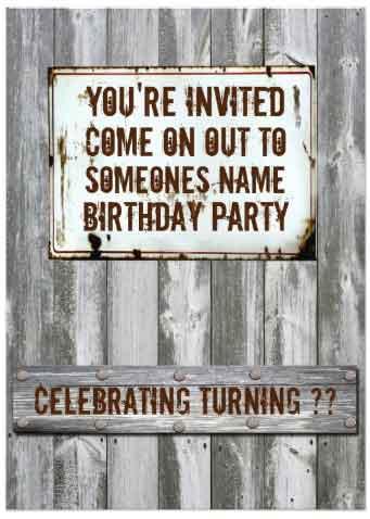redneck party Invitation