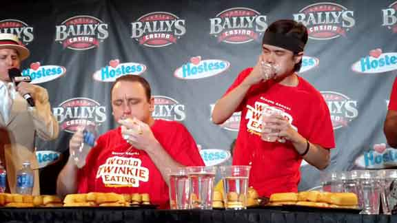 redneck party games twinkie eating competition