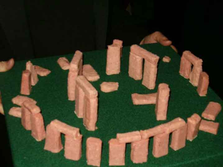 redneck party games spam sculptures