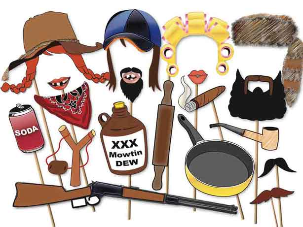redneck party ideas hillbilly photo booth props