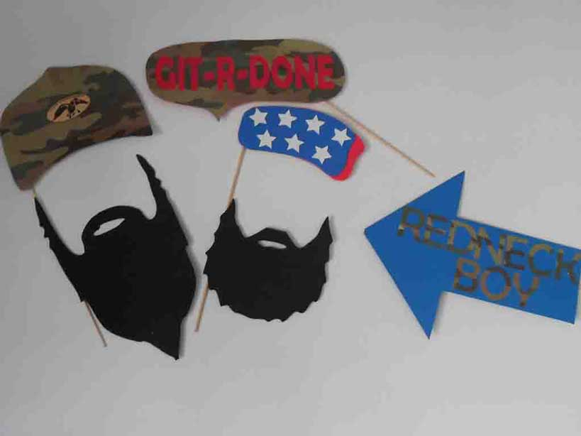 redneck party ideas photo booth props