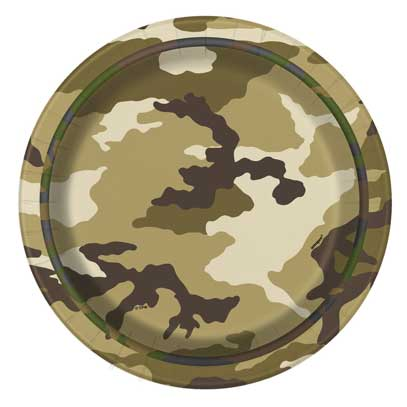 redneck party plates camouflage