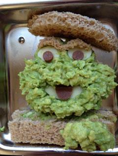 oscar the grouch sandwich
