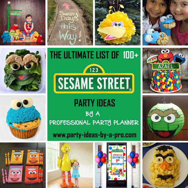 100+ Sesame Street Birthday Party Ideas—by a Professional Party Planner