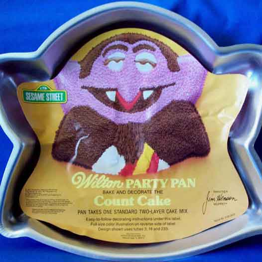 sesame street the count cake pan