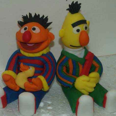 bert and ernie cake topper