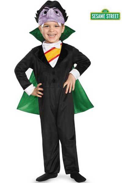 kids sesame street costume the count