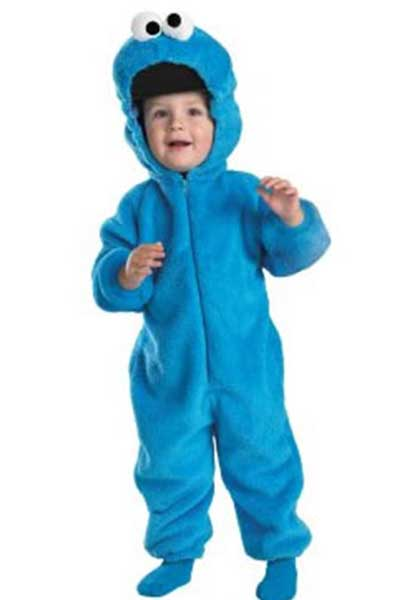 sesame street kids cookie monster costume