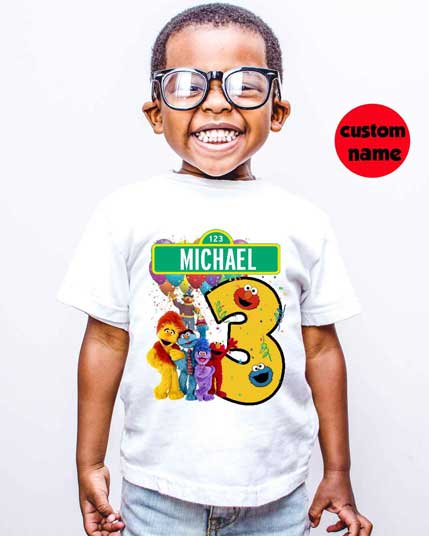 custom personalized kids sesame street t shirt