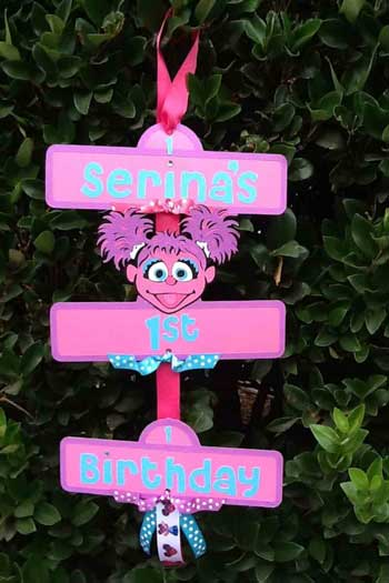 sesame street door sign abby cadabby